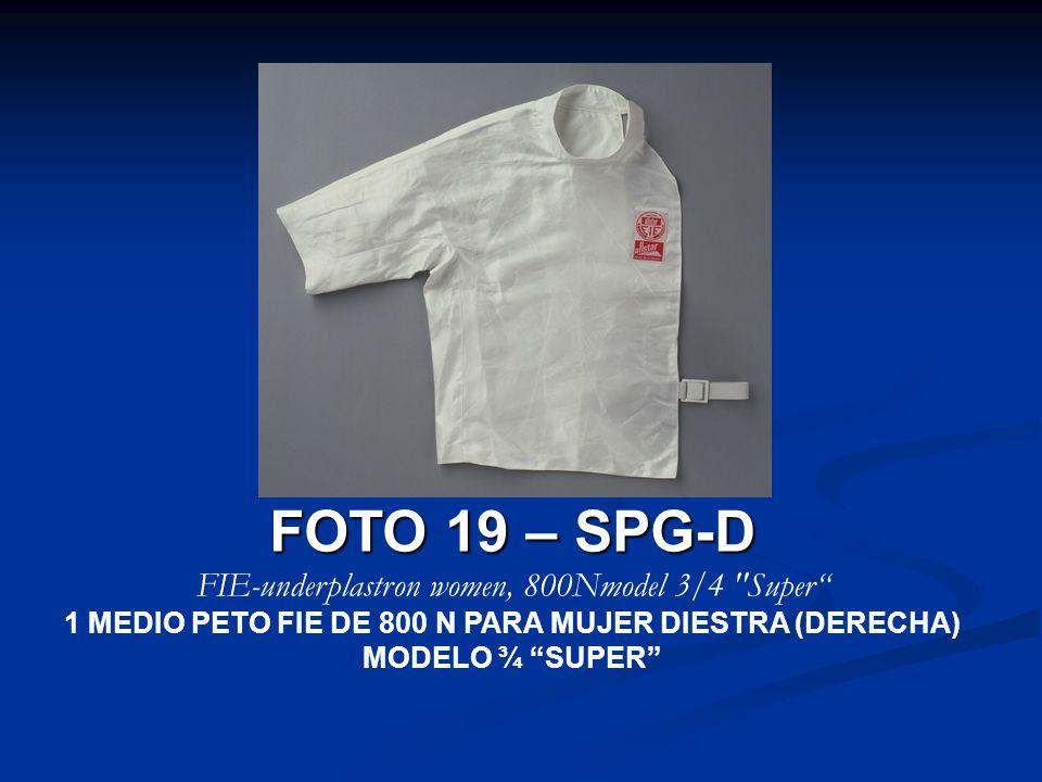FOTO 19 – SPG-D FIE-underplastron women, 800Nmodel 3/4