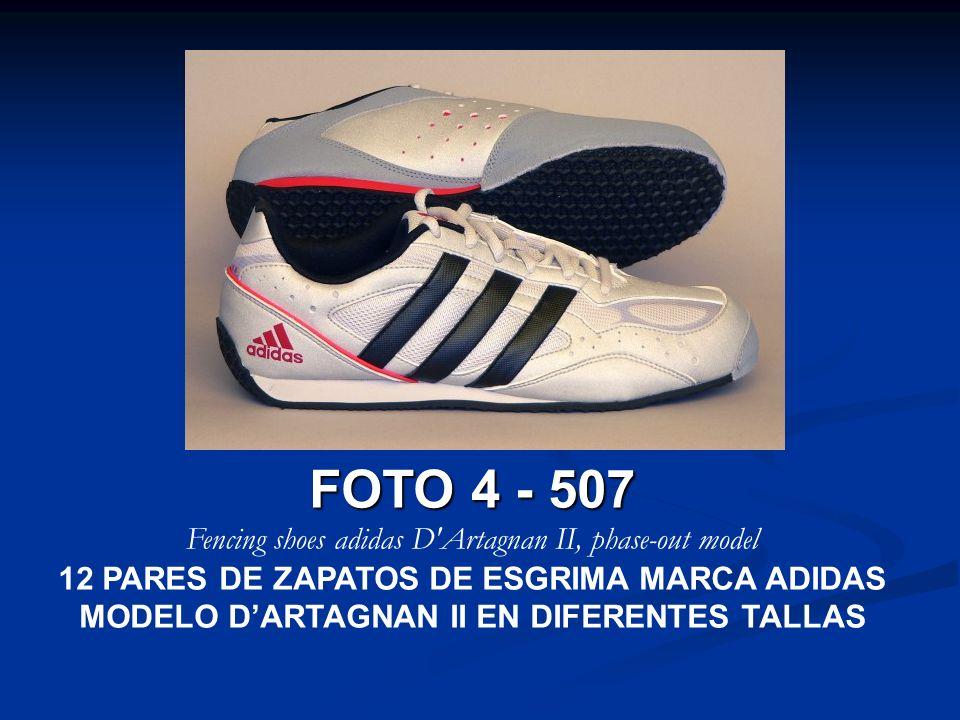 FOTO 4 - 507 Fencing shoes adidas D'Artagnan II, phase-out model 12 PARES DE ZAPATOS DE ESGRIMA MARCA ADIDAS MODELO DARTAGNAN II EN DIFERENTES TALLAS