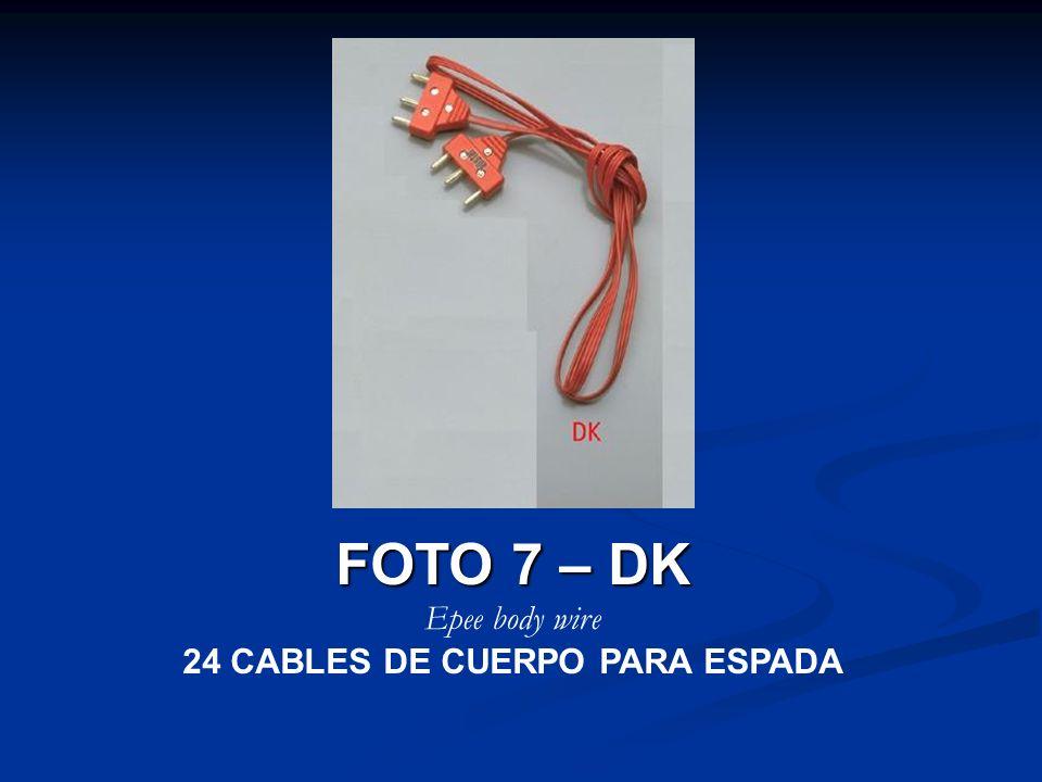 FOTO 7 – DK Epee body wire 24 CABLES DE CUERPO PARA ESPADA