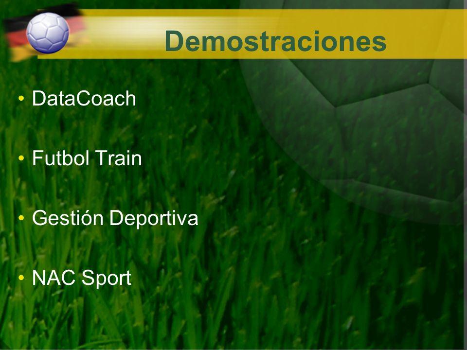 Demostraciones DataCoach Futbol Train Gestión Deportiva NAC Sport