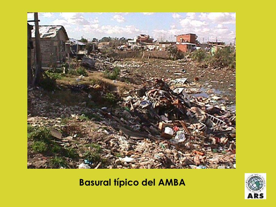 Basural Laguna radio El Mundo en AMBA