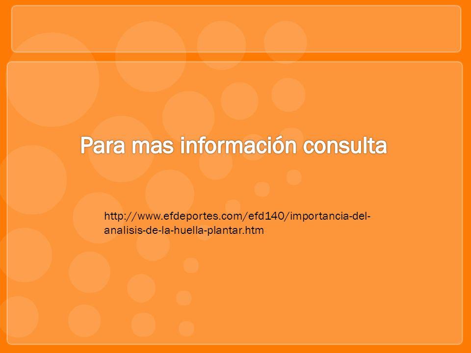 http://www.efdeportes.com/efd140/importancia-del- analisis-de-la-huella-plantar.htm