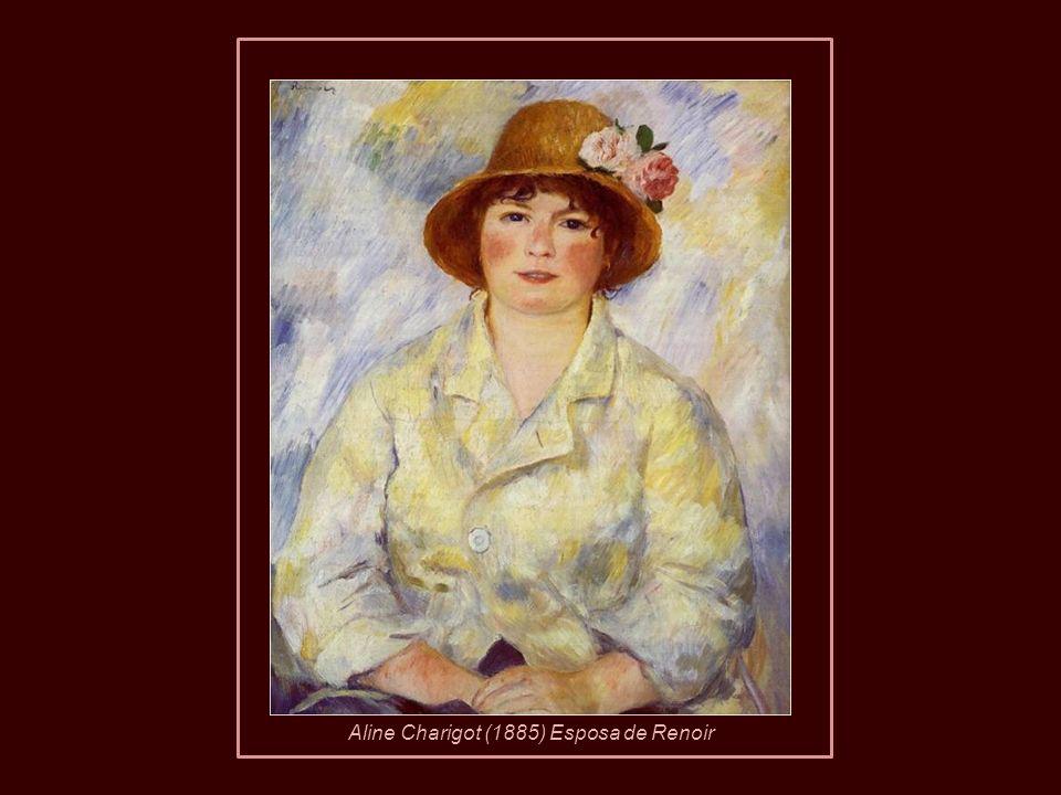 En 1890, a la edad de 49 años, Renoir se casó con Aline Charigot de 26 con quien tuvo tres hijos, Pierre, Jean y Claude (Coco). Pierre Renoir 1890Jean