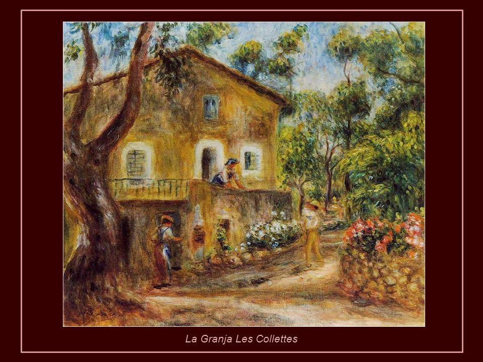 Renoir creía que estas visitas eran realmente beneficiosas para él. Por ello, cuando ya no pudo desplazarse, se hizo construir la casa de Les Collette