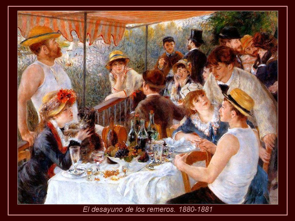 De vuelta a Cagnes continuó pintando hasta terminar su composición Descanso tras el baño .