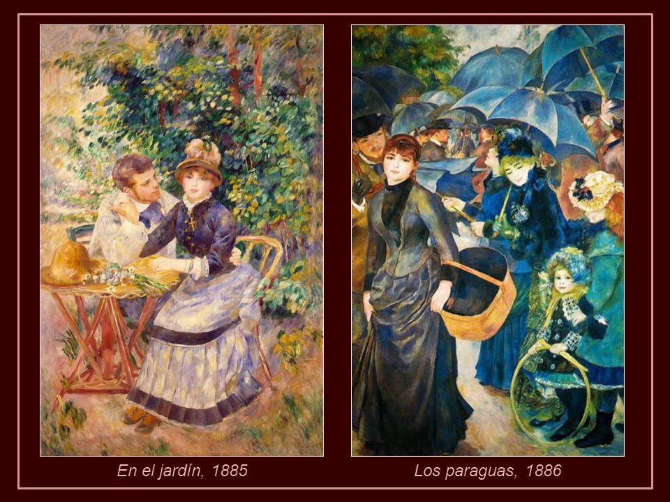En el jardín, 1885Los paraguas, 1886