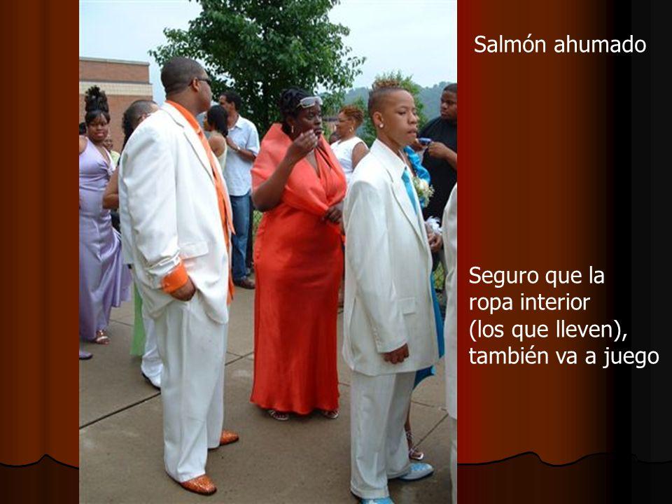Salmón ahumado Seguro que la ropa interior (los que lleven), también va a juego