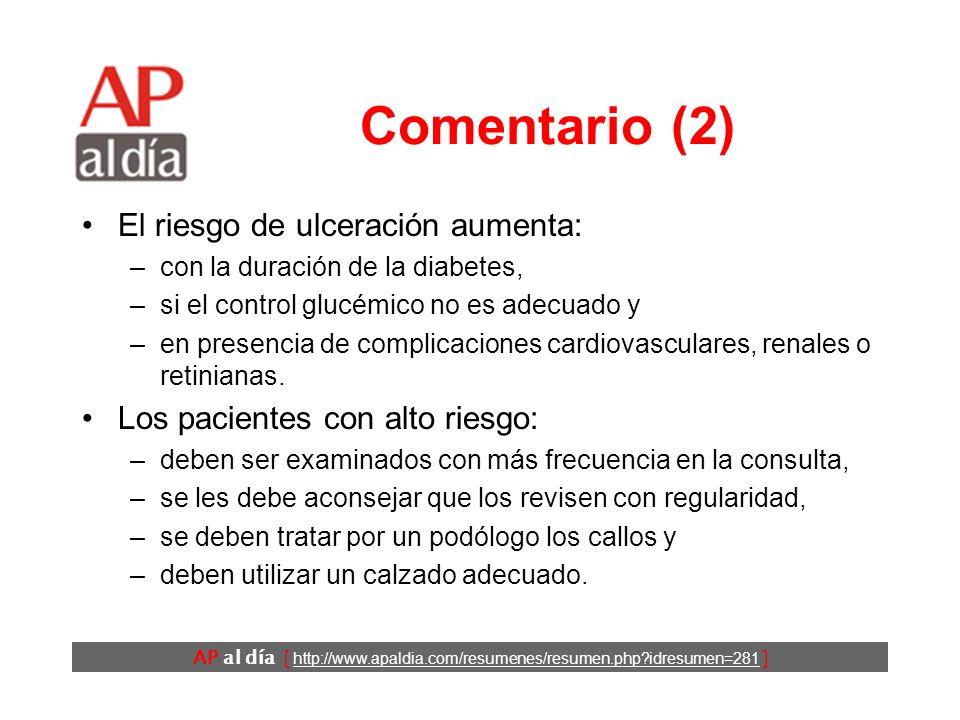 AP al día [ http://www.apaldia.com/resumenes/resumen.php?idresumen=281 ] Comentario (1) Las amputaciones no traumáticas en los países desarrollados: –