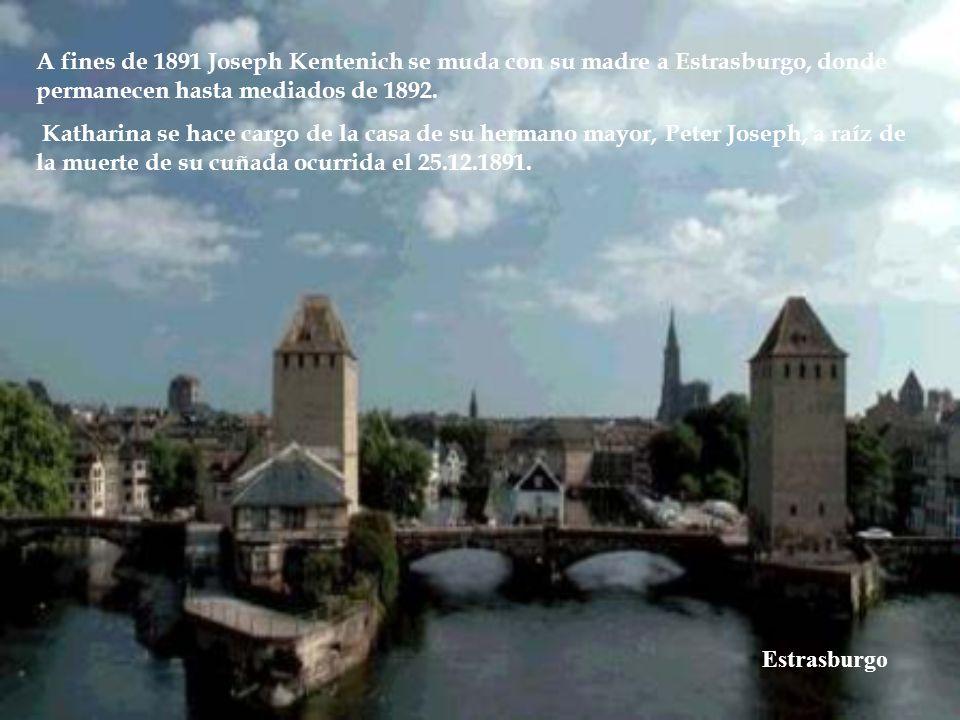 Anna Maria Kentenich De soltera Blatzheim (08.12.1818 – 29.01.1909) La abuela materna del P. Joseph Kentenich fue Anna Maria Kentenich. Mujer muy gene