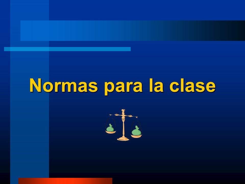 Normas para la clase