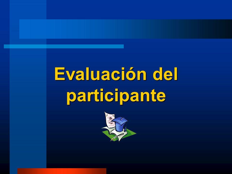 Evaluación del participante