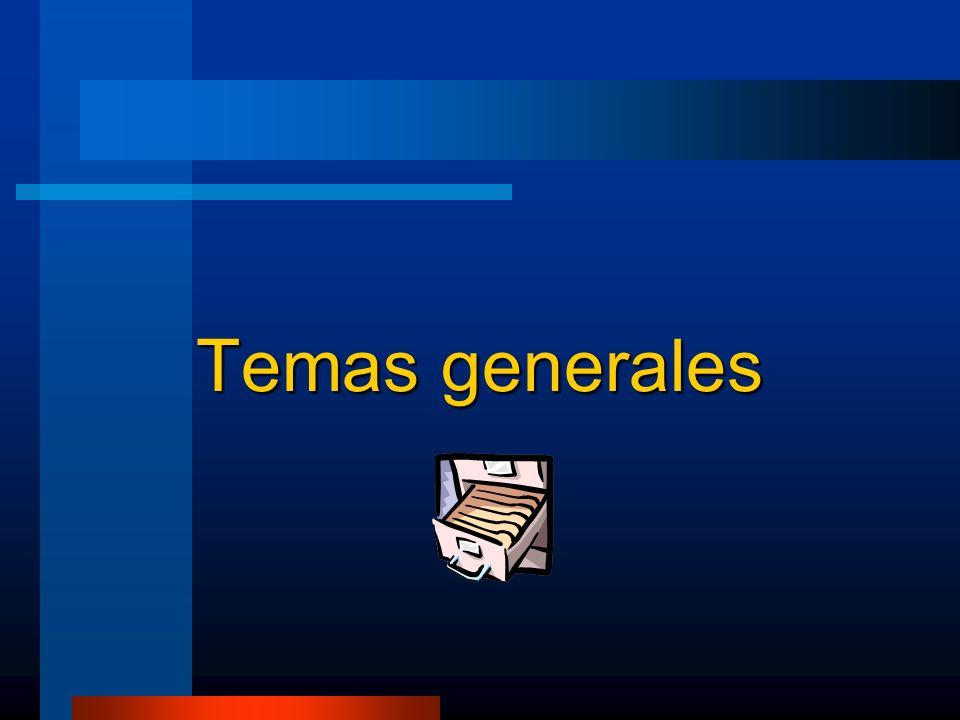 Temas generales