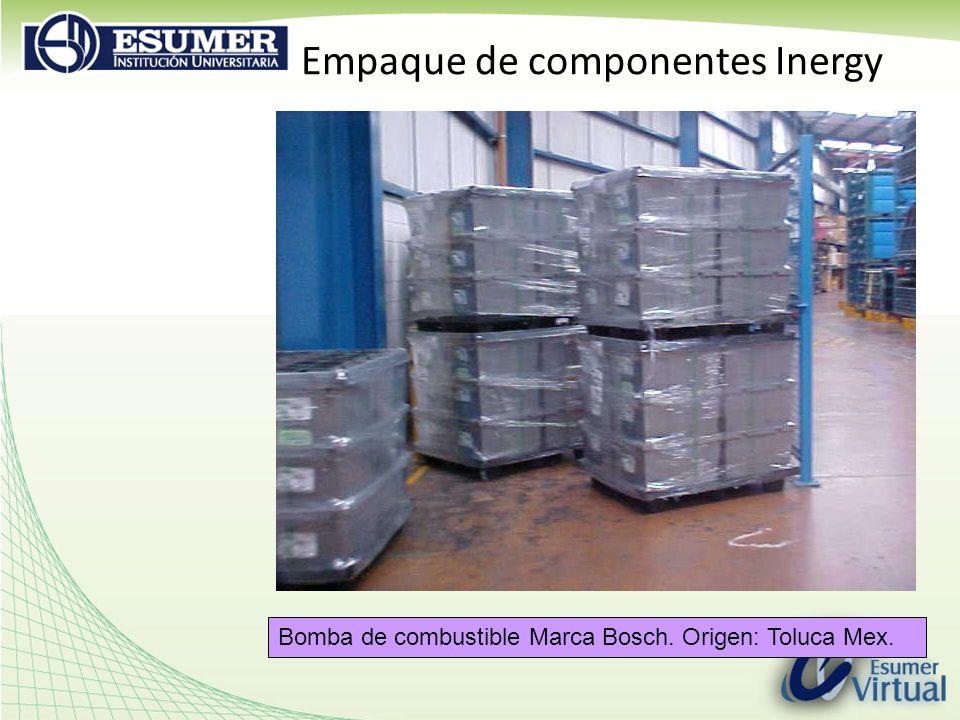 Empaque de componentes Inergy Bomba de combustible Marca Bosch. Origen: Toluca Mex.
