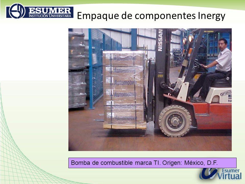 Empaque de componentes Inergy Bomba de combustible marca TI. Origen: México, D.F.