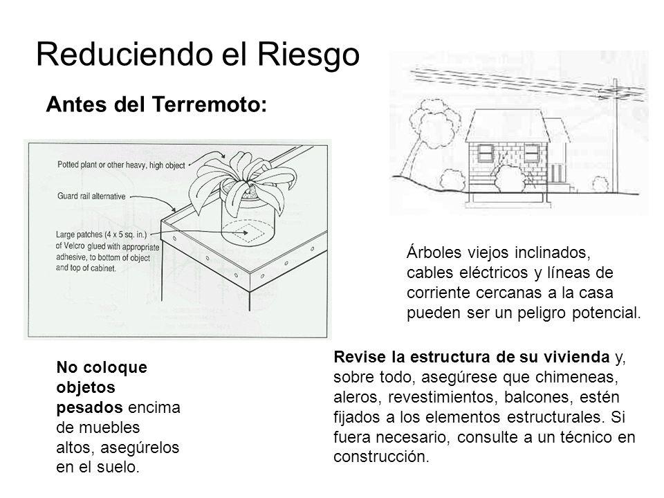 Revise la estructura de su vivienda y, sobre todo, asegúrese que chimeneas, aleros, revestimientos, balcones, estén fijados a los elementos estructura