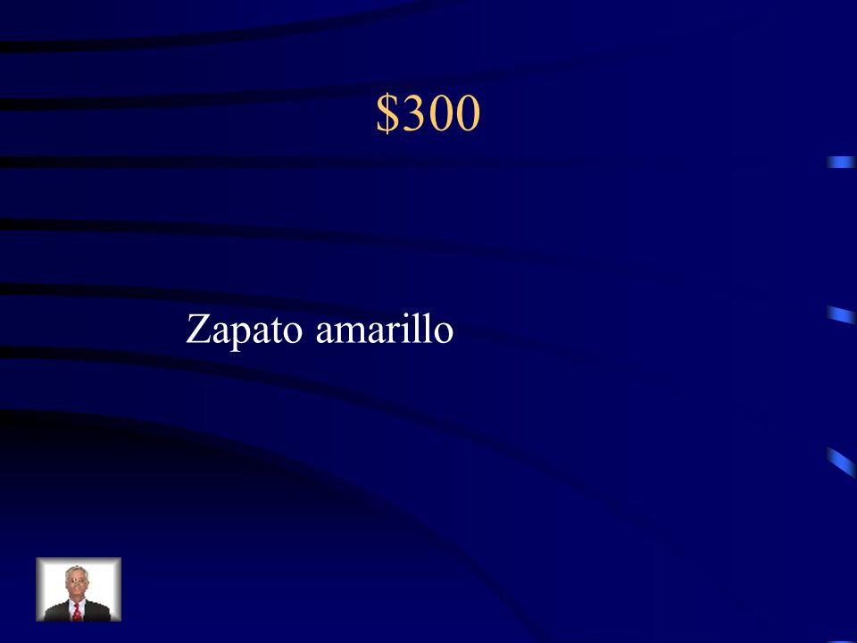 $300 Zapato/ amarillo (a)