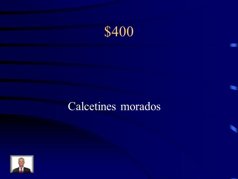 $400 Calcetines/morado (a)