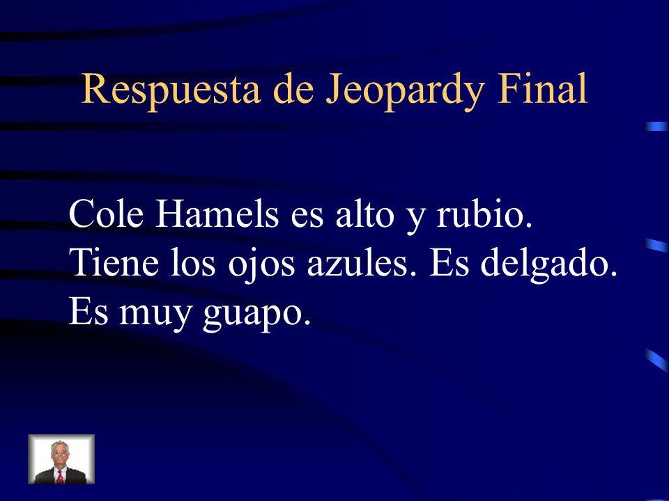 Final Jeopardy Describe a Cole Hamels.