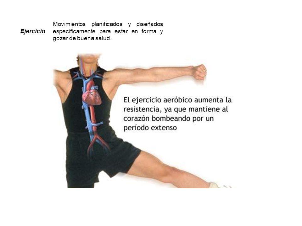 Ejercicio Movimientos planificados y diseñados específicamente para estar en forma y gozar de buena salud. Fuente:http://www.eufic.org/article/es/page