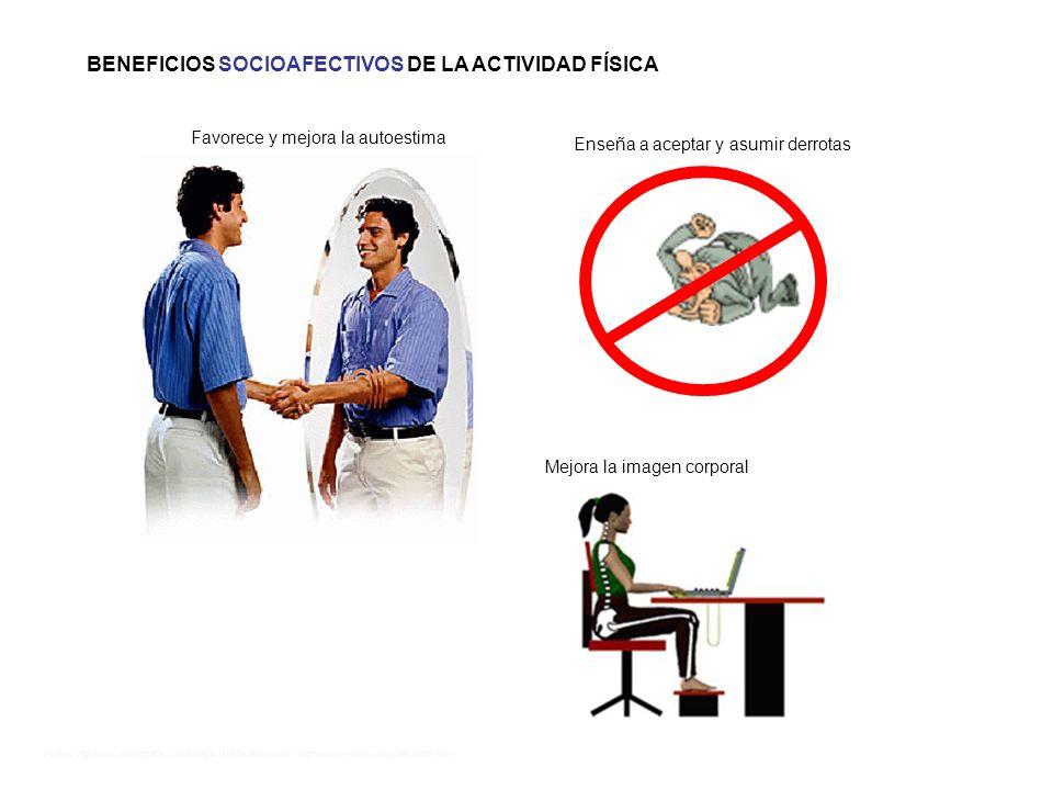 Fuente: http://www.monografias.com/trabajos11/acfis/acfis.shtml http://www.alemana.cl/bys/afi/afi002.html BENEFICIOS SOCIOAFECTIVOS DE LA ACTIVIDAD FÍ