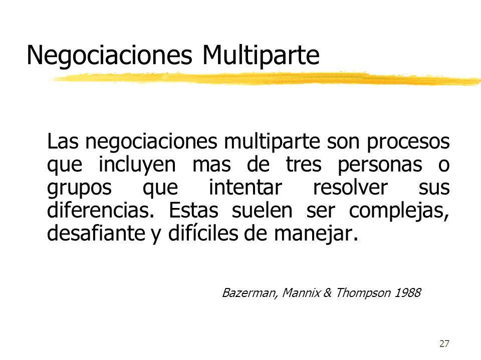 Negociaciones Complejas y Resolución de Conflictos