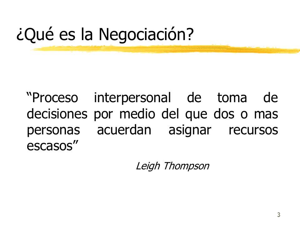 2 ¿Qué es la Negociación? Un proceso prospectivo de manejo efectivo de conflictos, tendiente a llegar a un acuerdo satisfactorio de las partes. Un pro