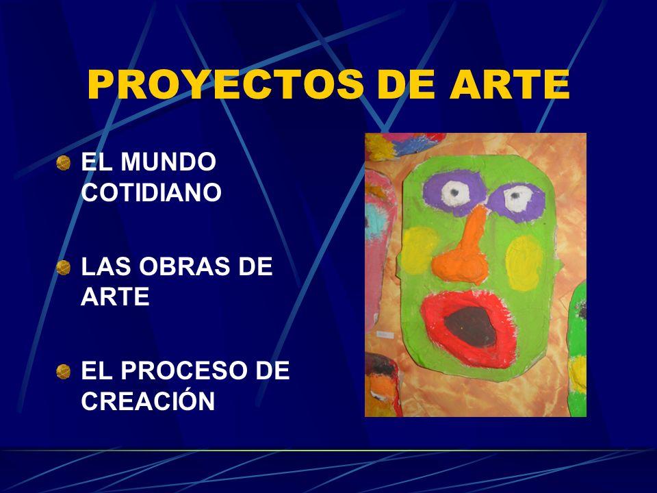 PROYECTOS DE ARTE EL MUNDO COTIDIANO LAS OBRAS DE ARTE EL PROCESO DE CREACIÓN