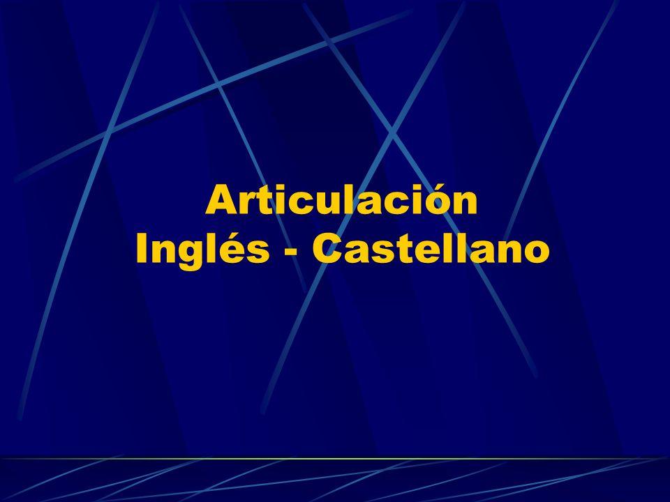 Articulación Inglés - Castellano