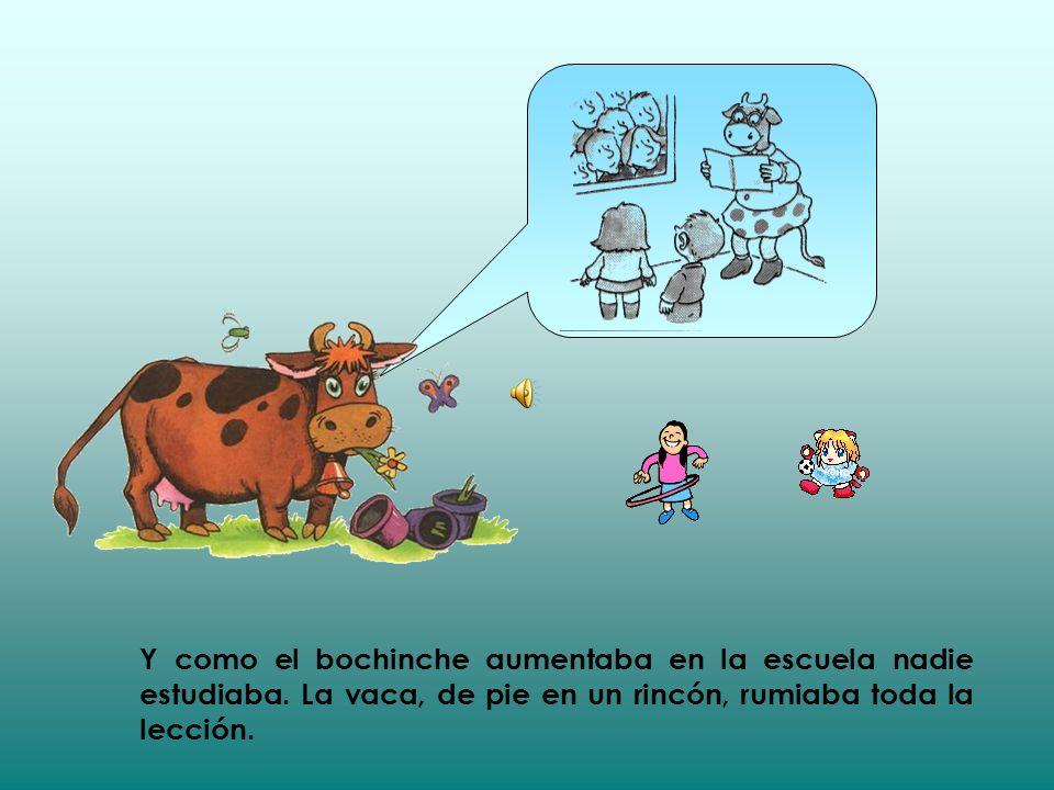 La gente se fue muy curiosa a ver a la vaca estudiosa. La gente llegaba en camiones, en bicicletas y en aviones.