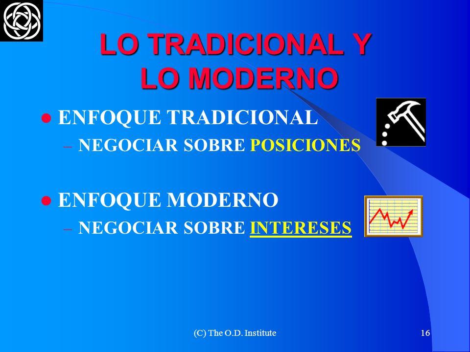 (C) The O.D. Institute15 UN GRAVE ERROR OTRA PARTE CREER QUE LA NEGOCIACIÓN FRACASÓ PORQUE LA OTRA PARTE NO SABE NEGOCIAR