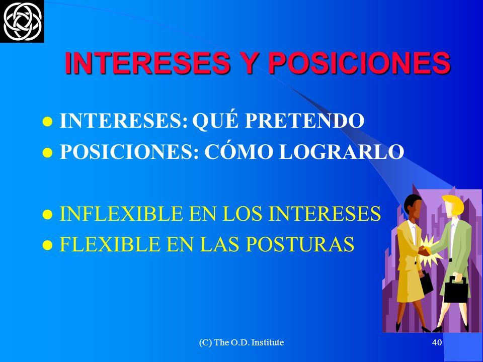 (C) The O.D. Institute39 INTERESES DIFERENTES PUEDEN SER OPUESTOS O COMPLEMENTARIOS