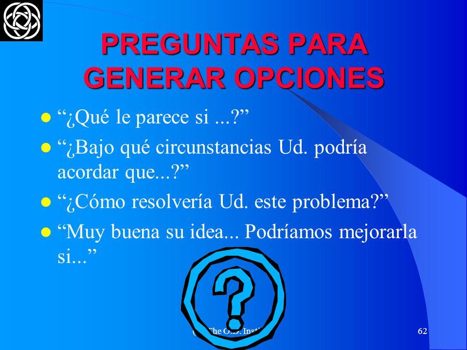 (C) The O.D. Institute61 EL MEJOR RESULTADO DE LA PRIMERA ENTREVISTA : ¡ CONSEGUIR UNA SEGUNDA ENTREVISTA !