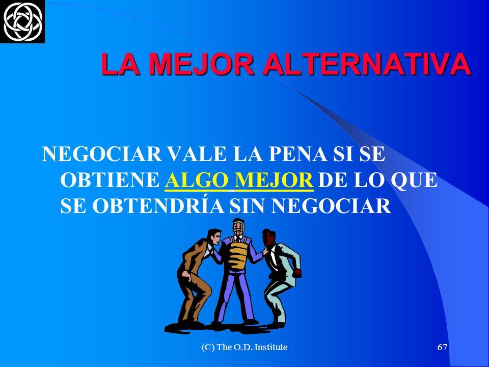 (C) The O.D. Institute66 SOBRE ALTERNATIVAS Y OFERTAS ANTES DE COMENZAR A NEGOCIAR, DEFINA CUÁL ES SU MEJOR ALTERNATIVA EL NEGOCIADOR DEBE ESTAR ATENT
