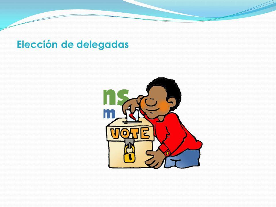Elección de delegadas