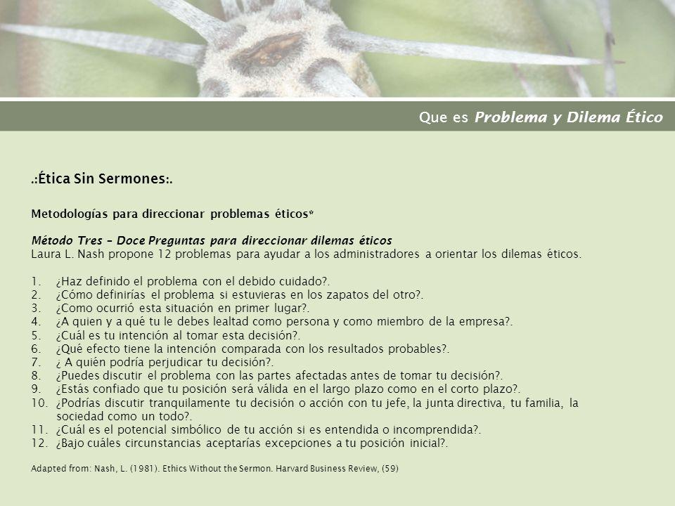 .: Ética Sin Sermones :.