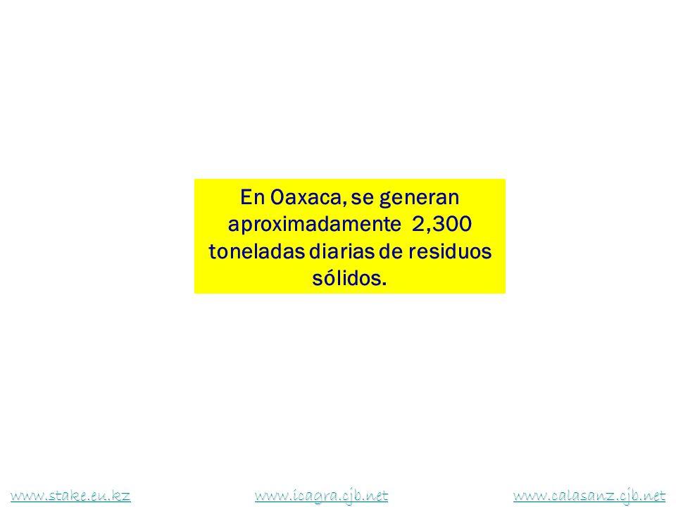 En Oaxaca, se generan aproximadamente 2,300 toneladas diarias de residuos sólidos. www.stake.eu.kzwww.stake.eu.kz www.icagra.cjb.net www.calasanz.cjb.