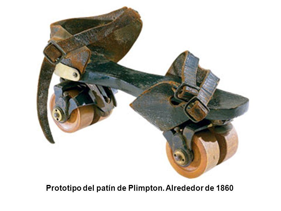 Prototipo del patín de Plimpton. Alrededor de 1860
