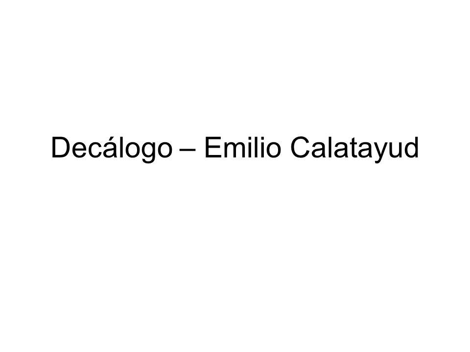 El popular juez de menores de Granada, Emilio Calatayud, conocido por sus sentencias educativas y orientadoras ha publicado un libro Reflexiones de un juez de menores (Editorial Dauro) en el que inserta un Decálogo para formar un delincuente.