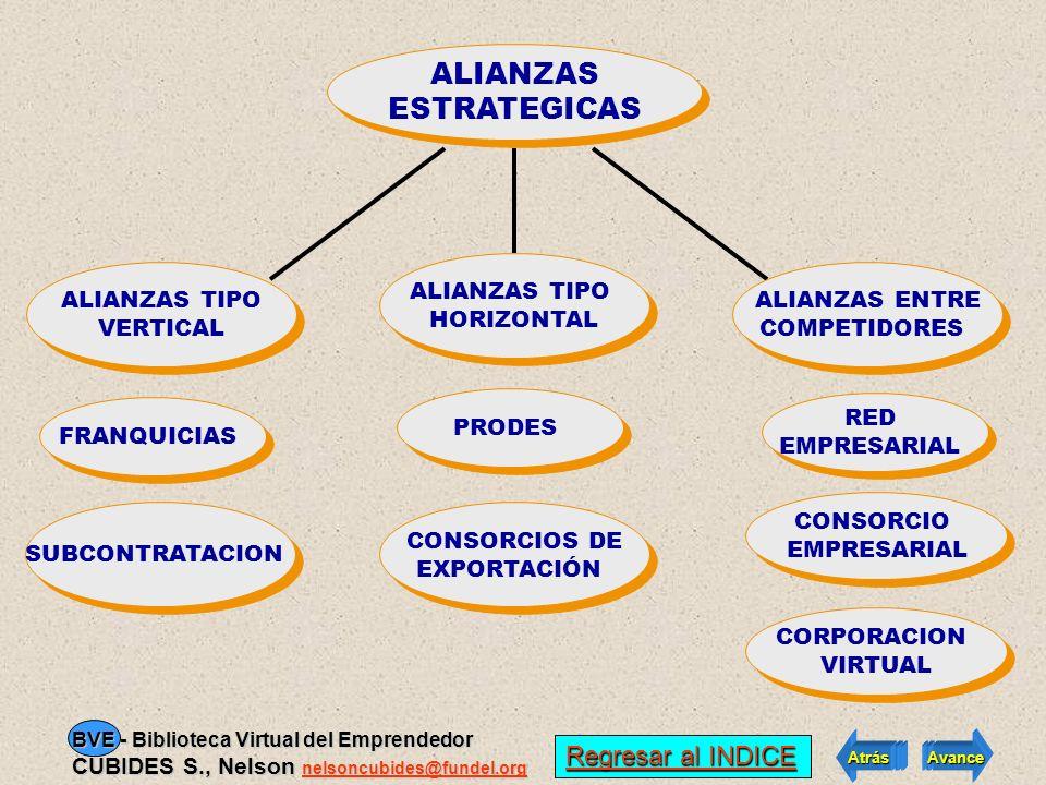ALIANZAS ESTRATEGICAS El Joint Venture abre paso a las Regresar al INDICE Regresar al INDICE Atrás Avance BVE - Biblioteca Virtual del Emprendedor CUB