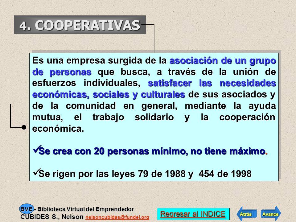 3. PRECOOPERATIVA Aquellas que bajo la orientación de una entidad promotora, se organizan para realizar actividades permitidas a las cooperativas y qu