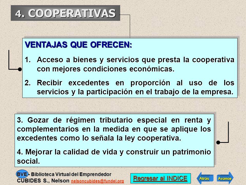 4. COOPERATIVAS PRINCIPALES CARACTERISTICAS: Ingreso y retiro de los asociados voluntario. Ingreso y retiro de los asociados voluntario. El número de