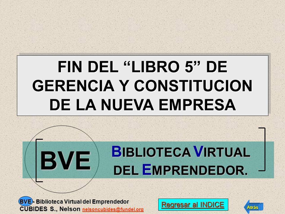 SOBRE ESTE TEMA www.fundel.org consulte la página web de FUNDEL. PARA MÁS INFORMACION Regresar al INDICE Regresar al INDICE Atrás Avance BVE - Bibliot