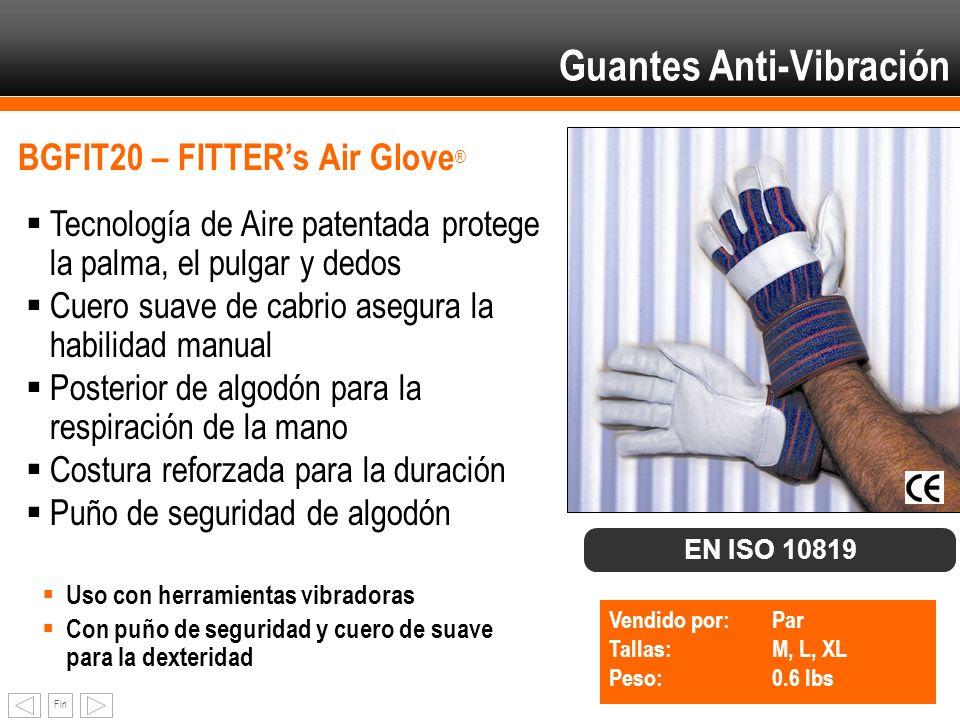 Fin BGFIT20 – FITTERs Air Glove ® Tecnología de Aire patentada protege la palma, el pulgar y dedos Cuero suave de cabrio asegura la habilidad manual P