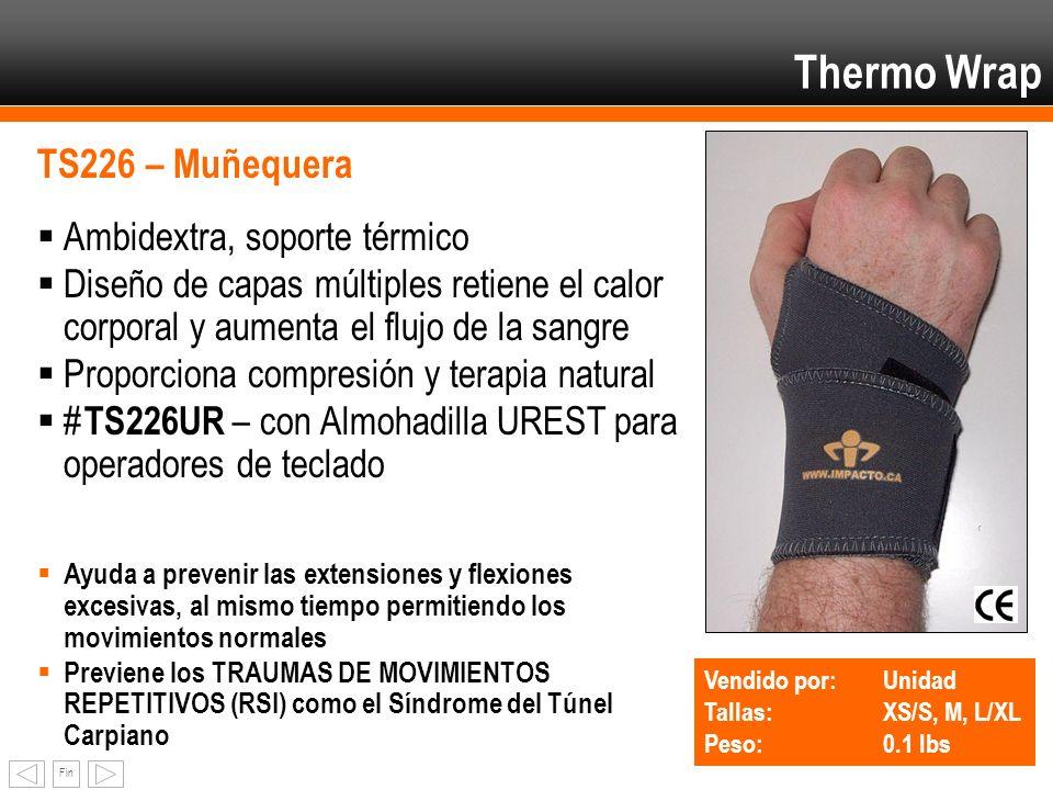 Fin Thermo Wrap TS226 – Muñequera Ambidextra, soporte térmico Diseño de capas múltiples retiene el calor corporal y aumenta el flujo de la sangre Prop