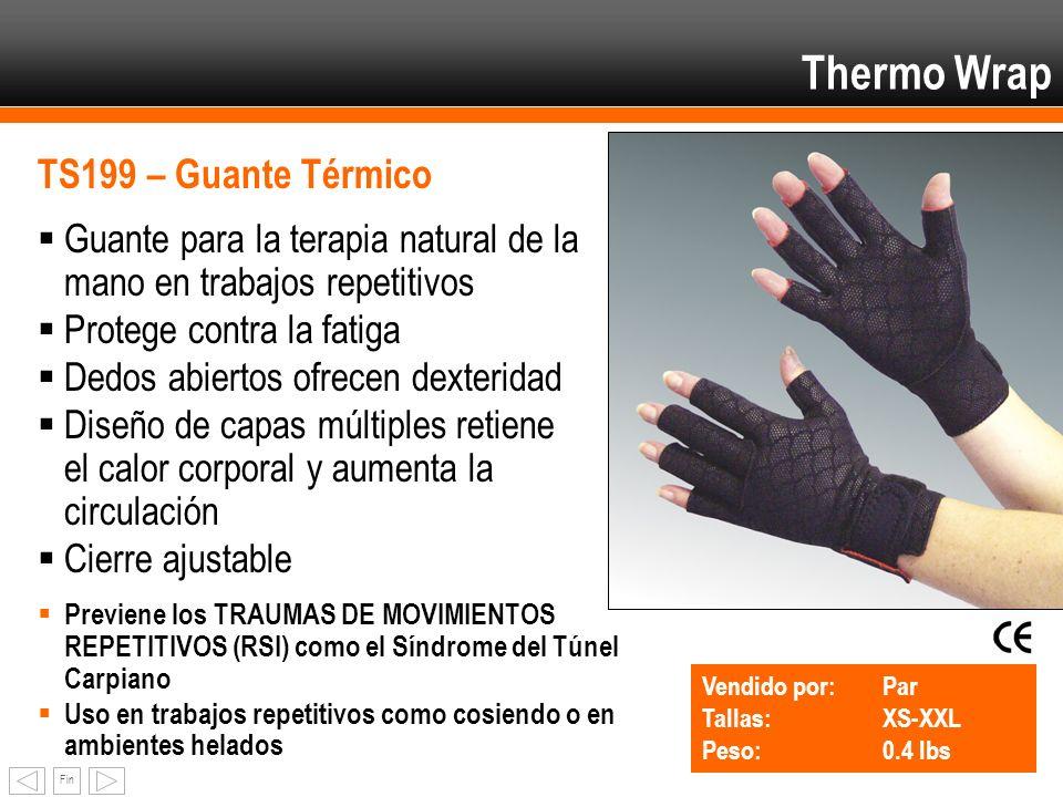 Fin Thermo Wrap TS199 – Guante Térmico Guante para la terapia natural de la mano en trabajos repetitivos Protege contra la fatiga Dedos abiertos ofrec