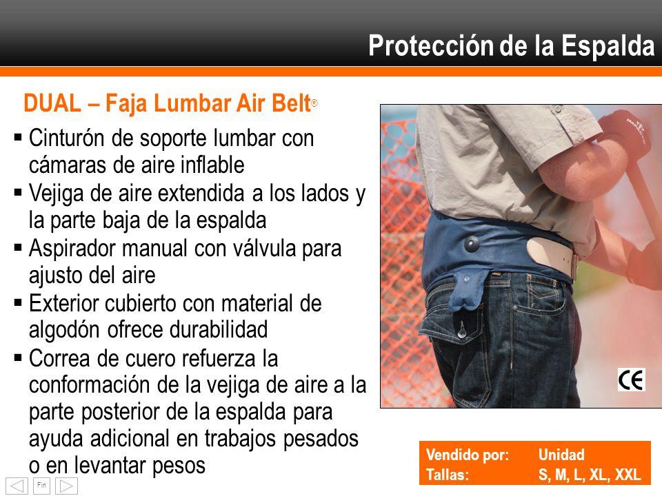 Fin DUAL – Faja Lumbar Air Belt ® Cinturón de soporte lumbar con cámaras de aire inflable Vejiga de aire extendida a los lados y la parte baja de la e