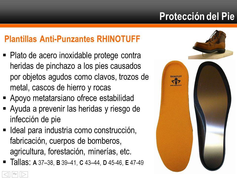 Fin Protección del Pie Plantillas Anti-Punzantes RHINOTUFF Plato de acero inoxidable protege contra heridas de pinchazo a los pies causados por objeto