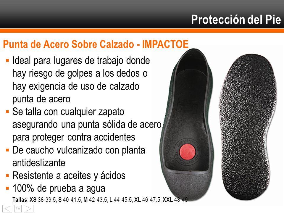 Fin Punta de Acero Sobre Calzado - IMPACTOE Ideal para lugares de trabajo donde hay riesgo de golpes a los dedos o hay exigencia de uso de calzado pun