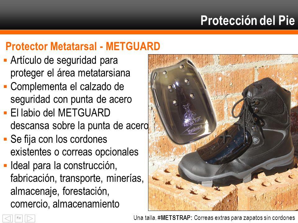 Fin Protector Metatarsal - METGUARD Artículo de seguridad para proteger el área metatarsiana Complementa el calzado de seguridad con punta de acero El