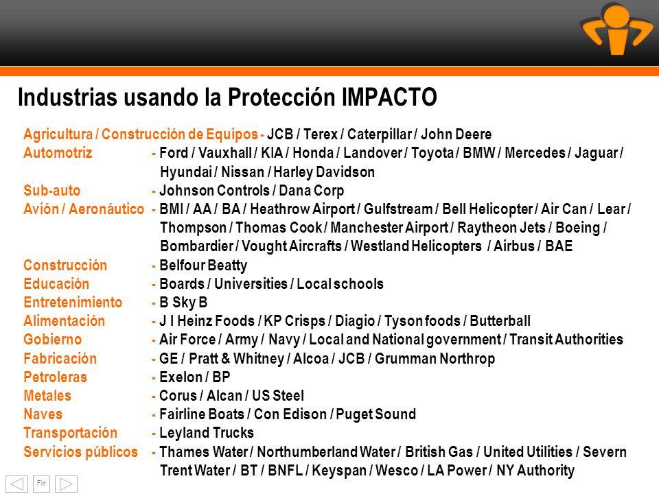 Fin Industrias usando la Protección IMPACTO Agricultura / Construcción de Equipos - JCB / Terex / Caterpillar / John Deere Automotriz- Ford / Vauxhall
